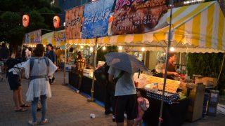 JR吹田駅前さんくす広場でさんくす盆踊り大会が開催されました
