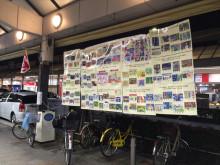 JR吹田駅前旭通商店街に地域の子ども達の絵